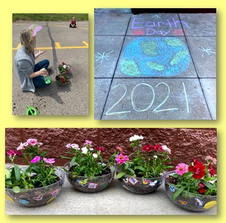 Ms. Slimmer's Pre-K students participated in Earth Day by planting flowers!