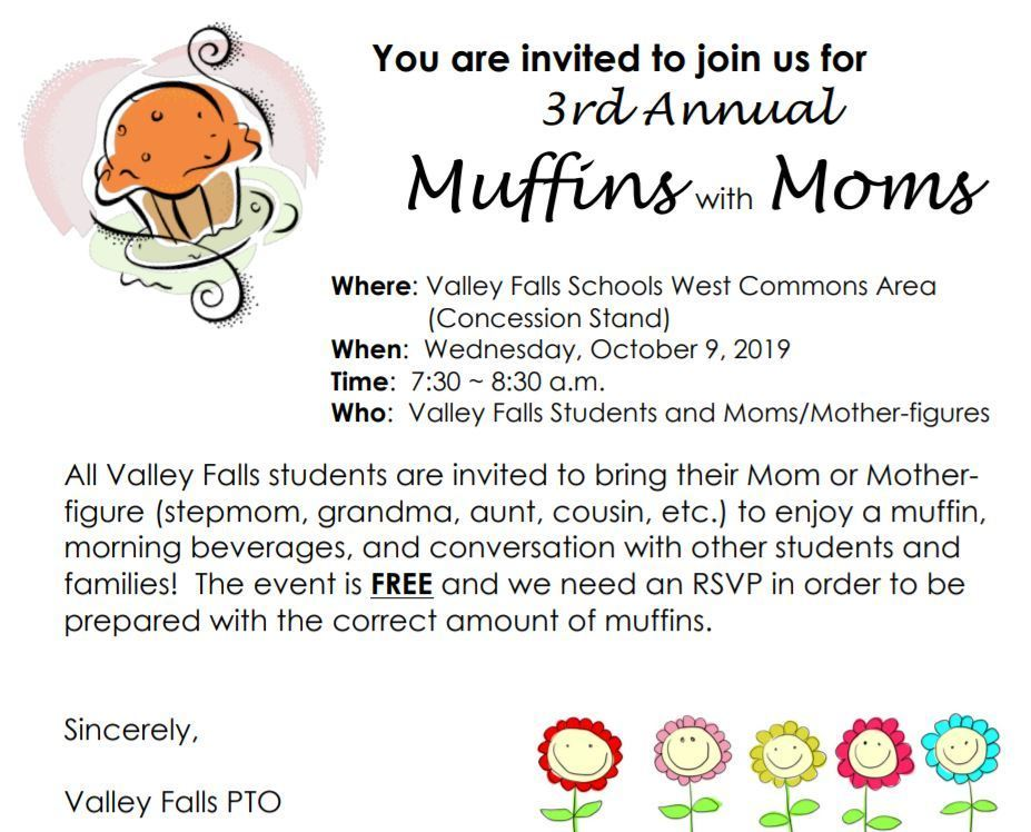 Muffins with Mom Announcement